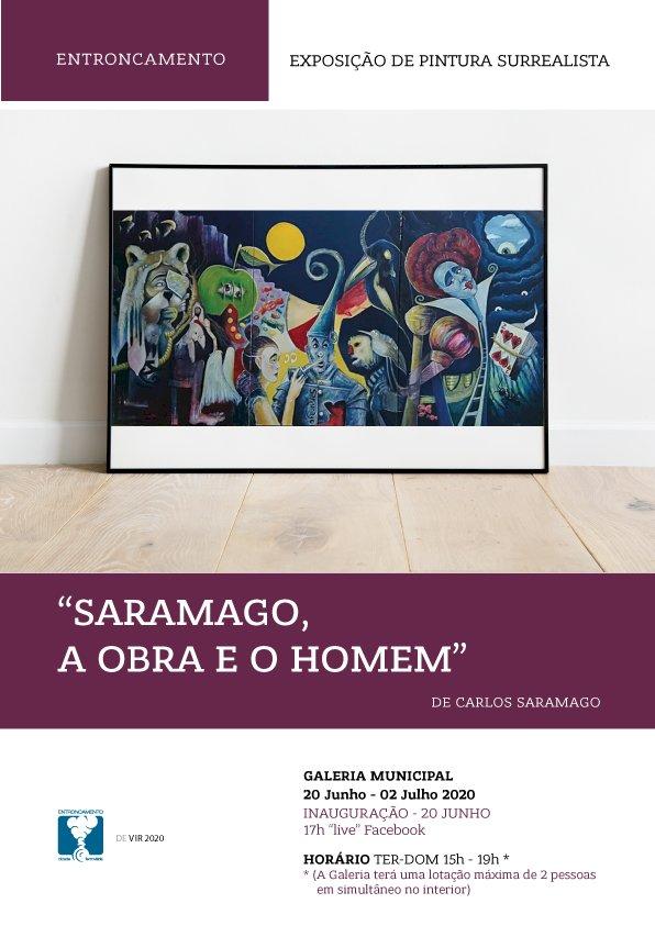 """Exposição de Pintura Surrealista """"Saramago, a obra e o homem"""""""