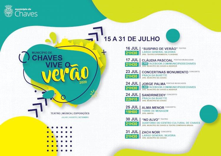 """Ciclo Cultural """"Chaves Vive o Verão 2020"""" com propostas para todos os gostos"""