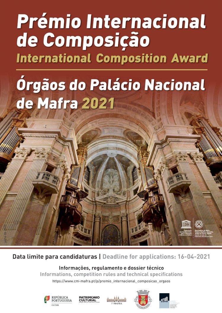 Prémio Internacional de Composição – Órgãos do Palácio Nacional de Mafra com candidaturas abertas