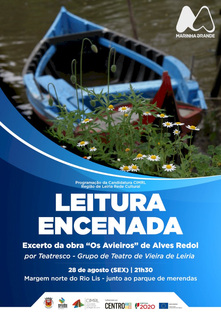 Leitura encenada junto ao Rio Liz