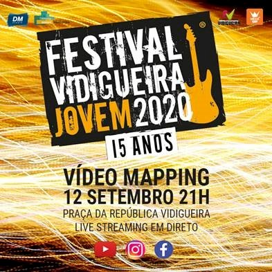 Festival Vidigueira Jovem em vídeo mapping