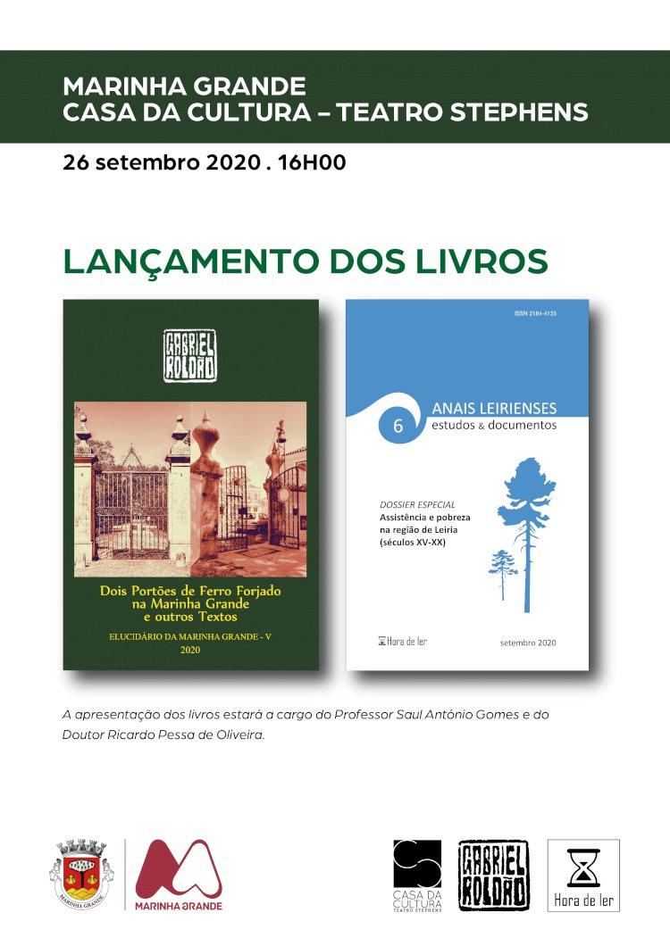 Apresentação de Anais Leirienses e livro de Gabriel Roldão no Teatro Stephens