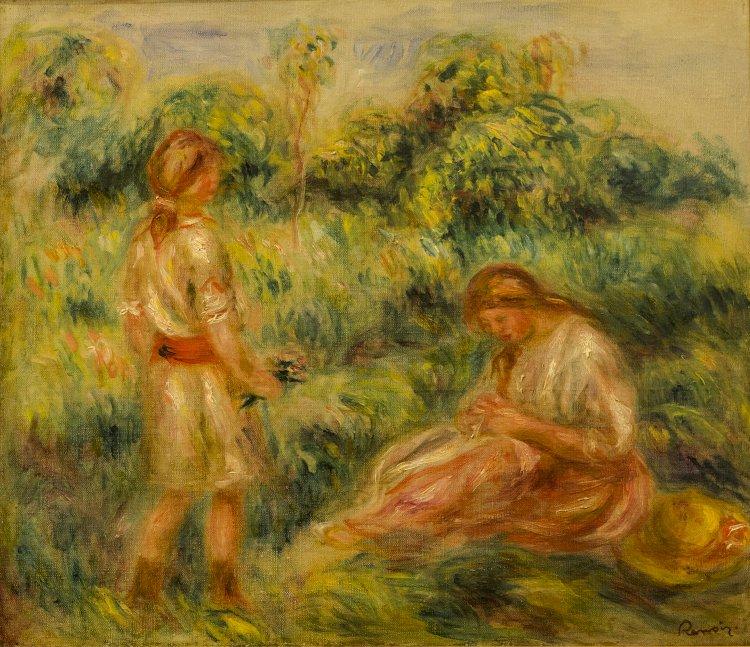 Exposição Mulheres. Entre Renoir e Amadeo apresentada em Algés