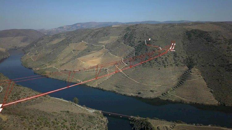 Torre de Moncorvo projecta a maior ponte pedonal suspensa sobre as margens do Douro