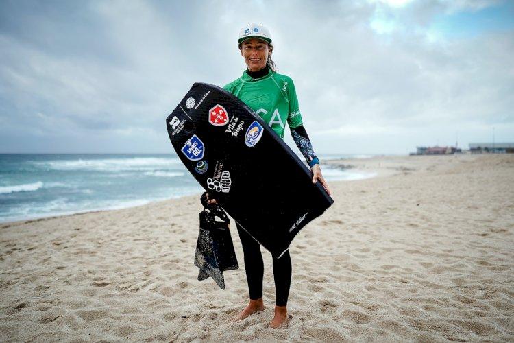Joana Schenker campeã nacional  na Póvoa de Varzim...mas com um susto  (Circuito Nacional de Bodyboard Crédito Agrícola 2020)