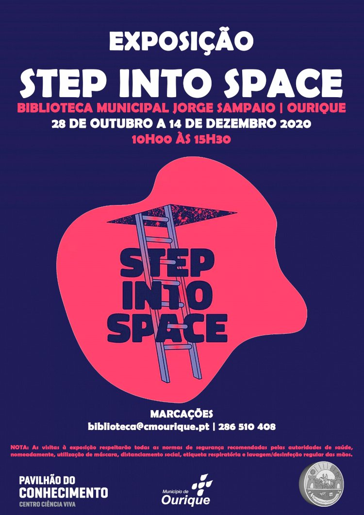 """Ourique acolhe exposição """"Step Into the Space"""" sobre os impactos da ciência aeroespacial no nosso quotidiano"""