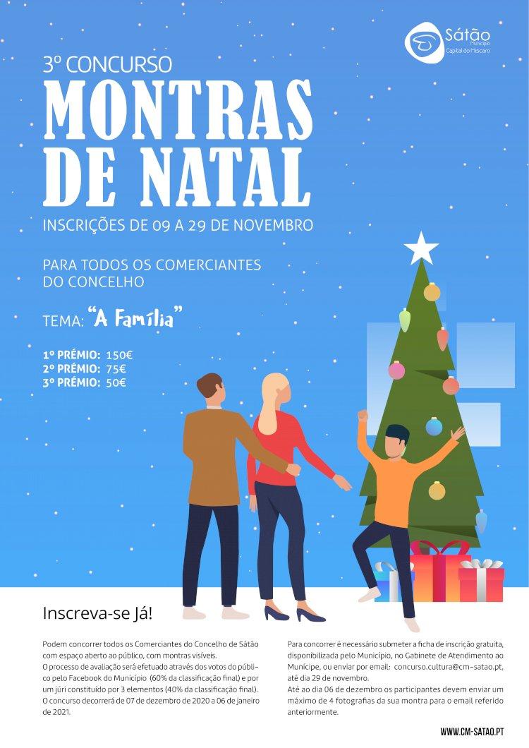 Município de Sátão promove 3ª edição do Concurso de Montras de Natal