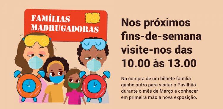 """Pavilhão do Conhecimento lança programa """"Famílias Madrugadoras"""""""