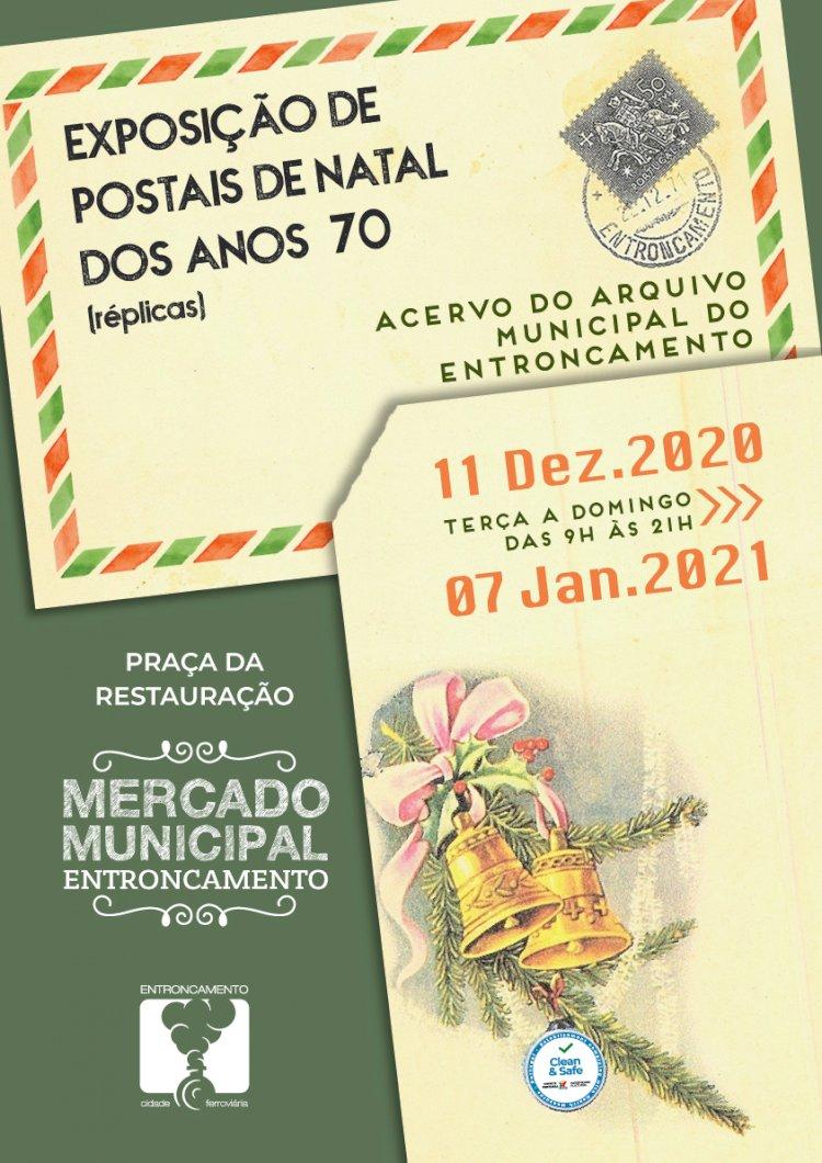 Mercado Municipal do Entroncamento acolhe exposição de postais de Natal dos Anos 70