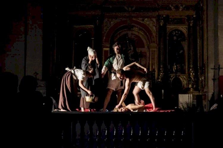 Quadros de Caravaggio ao vivo no Centro de Diálogo Intercultural de Leiria