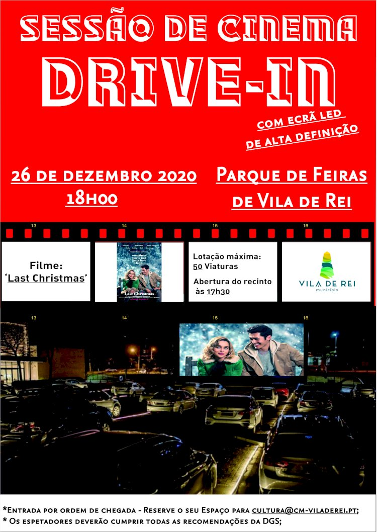 Vila de Rei recebe nova Sessão de Cinema Drive In
