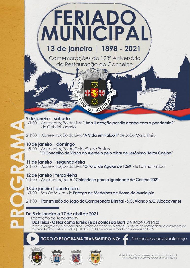 Município de Viana assinala 123º aniversário da Restauração do Concelho