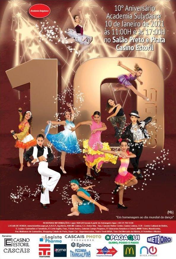 Academia Sulydance celebra 10º aniversário no Salão Preto e Prata do Casino Estoril