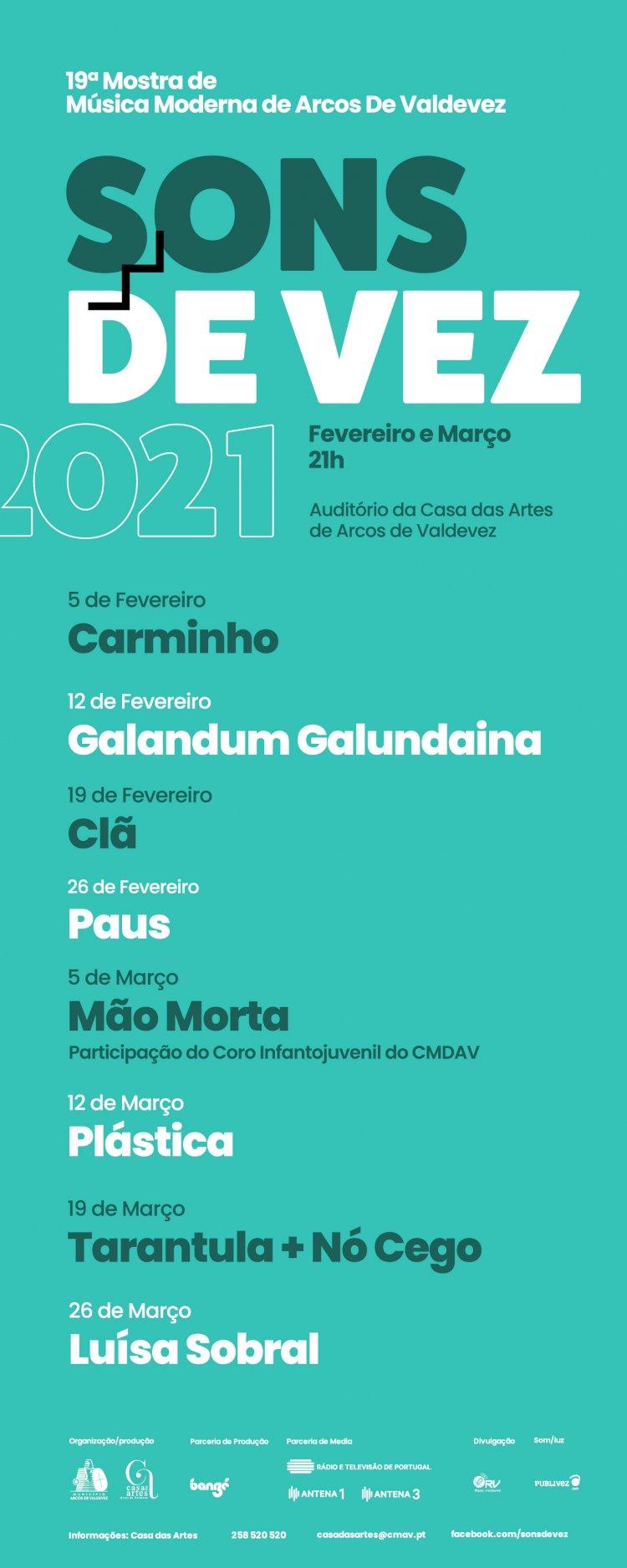O Festival Sons de Vez regressa em 2021, com a sua 19ª edição repleta de grandes nomes