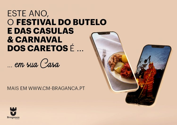 Festival do Butelo e das Casulas e Carnaval dos Caretos 2021 na casa de todos os portugueses