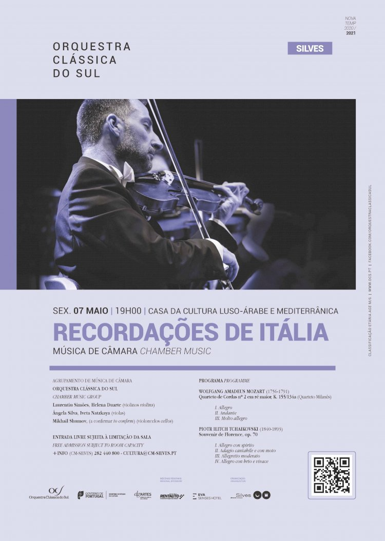 Casa da Cultura Luso-Árabe e Mediterrânica é palco de concerto da Orquestra Clássica do Sul