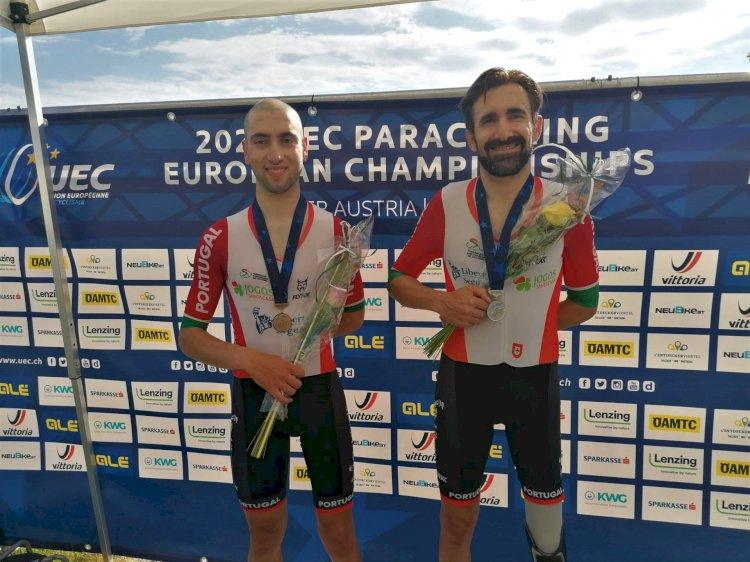 Bernardo Vieira e Telmo Pinão medalhados no Europeu de paraciclismo