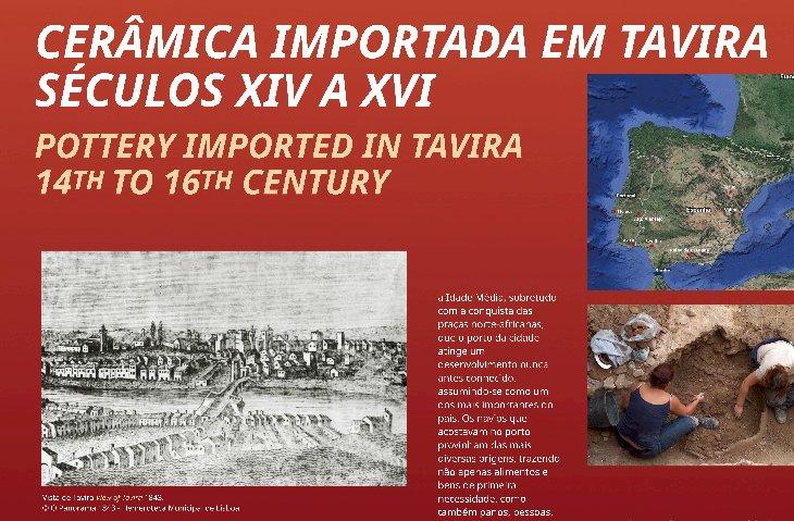 """Exposição """"Cerâmicas importadas em Tavira. Séculos XIV e XVI"""""""