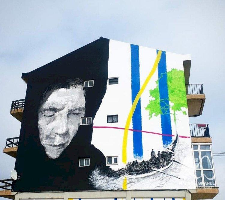 Arte Urbana na praia da Vieira homenageia população e arte Xávega