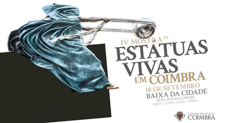 Mostra de Estátuas Vivas regressa às ruas, praças e largos da Baixa no próximo sábado