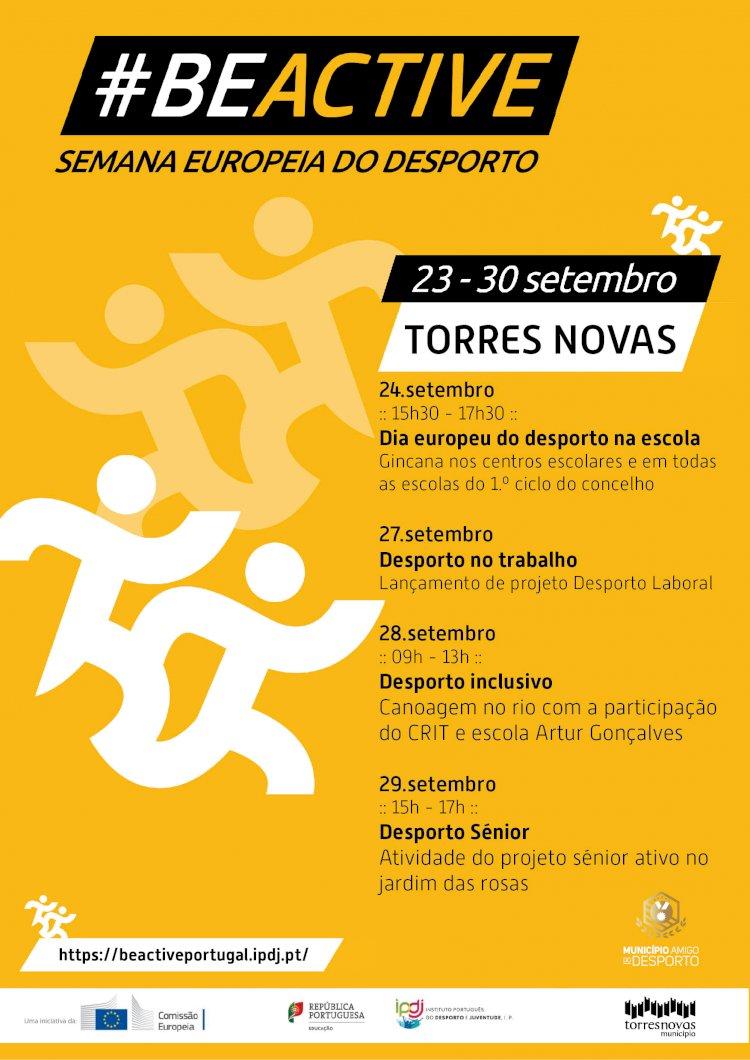 Município de Torres Novas promove atividades da Semana Europeia do Desporto