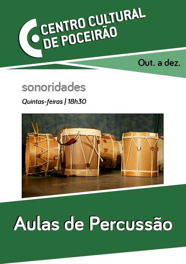 Centro Cultural de Poceirão recebe Aulas Regulares de Percussão