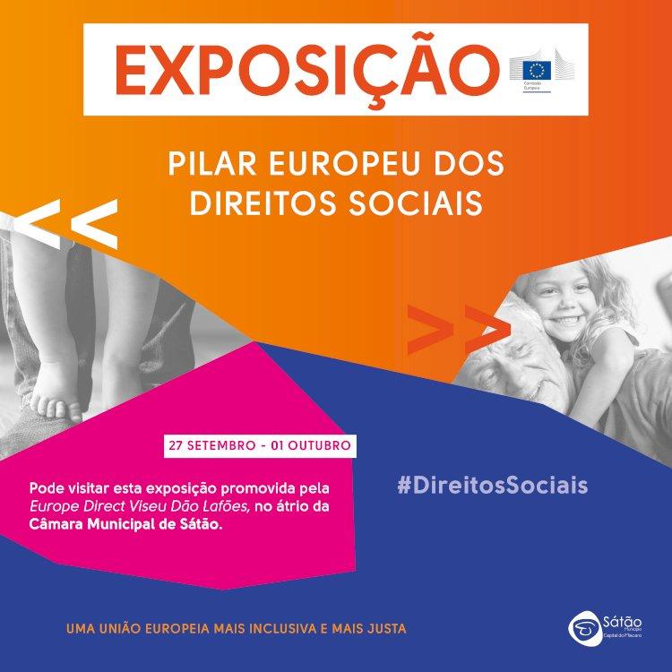"""Exposição """"Pilar Europeu dos Direitos Sociais"""" no átrio do edifício Câmara Municipal"""