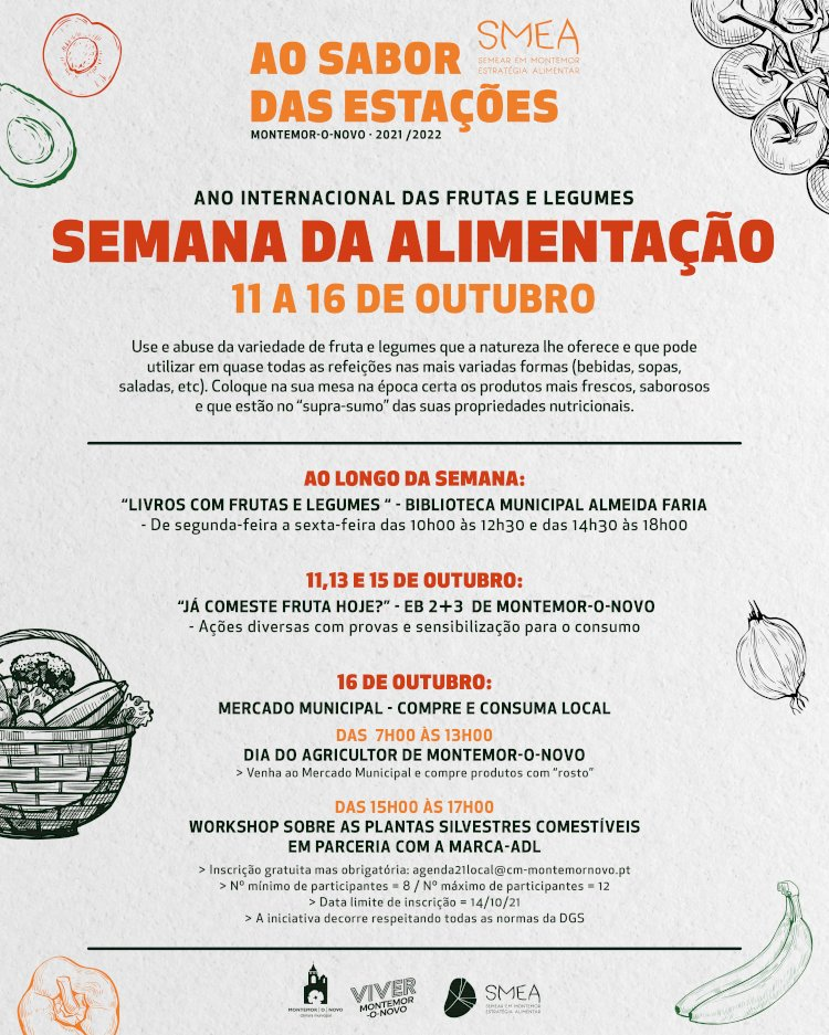 Semana da Alimentação de 11 a 16 de Outubro